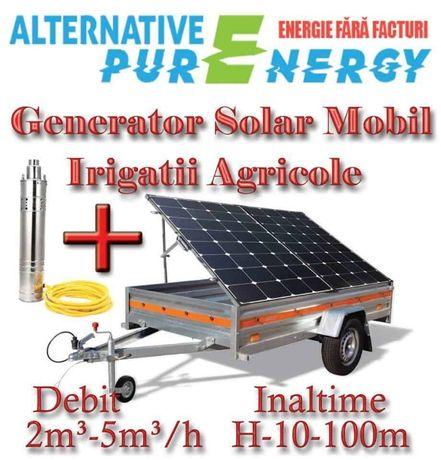 Generator Solar Mobil - Irigatii Agricultura, Piscicultura