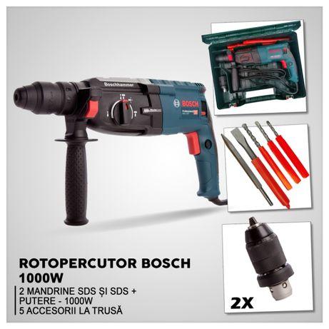 Bosch Rotopercutor cu doua mandrine SIMPLA si SDS PLUS 1000W / 900 RPM