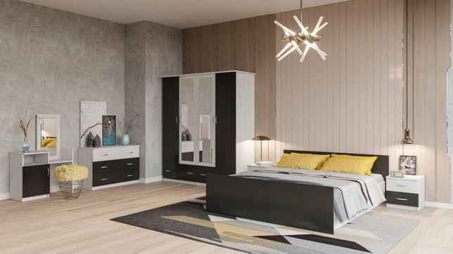 Спальный гарнитур, кровать, шифоньер, комод, трюмо, тумбочки