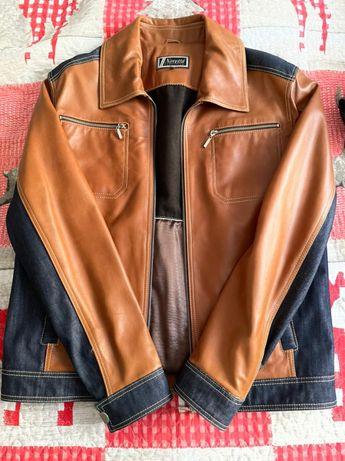 Осенняя куртка из натуральной кожи