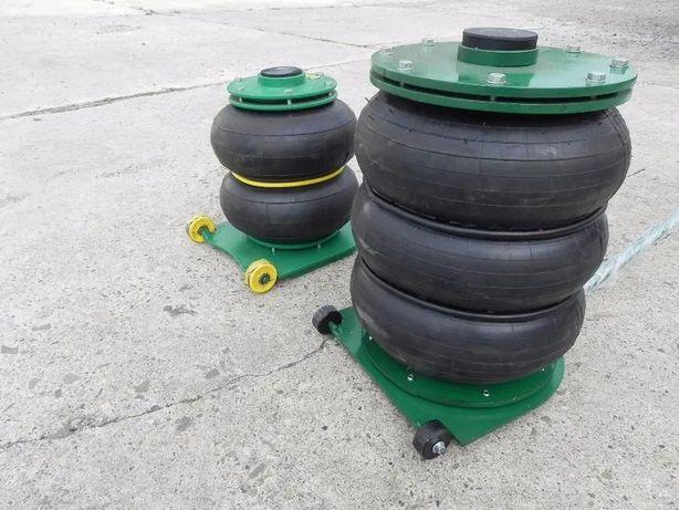 Cric pneumatic cu 2 si 3 perna / perne de aer 2.5 t si 5 t calitate