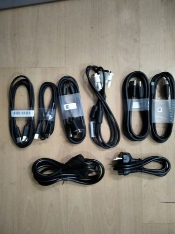 Компютърни кабели нови - DVI, USB, VGA, DP