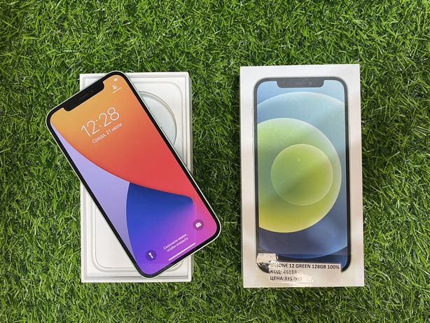 Iphone 12 green . 128gb. 100%