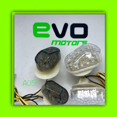 Set x2 Semnalizari LED Moto Atv Scuter Incorporate Carena Honda A051