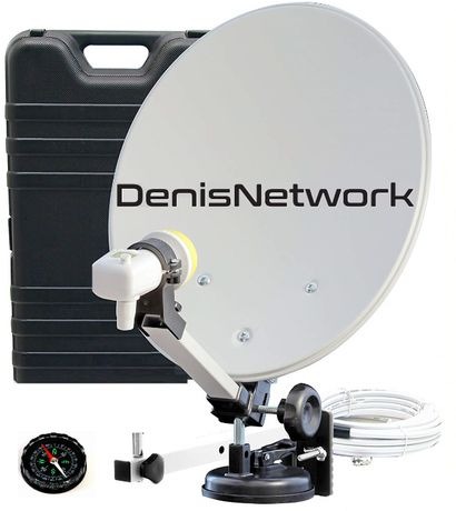 Antena CAMION Satelit TIR 41cm, camping, ventuză, cablu 5m+busolă