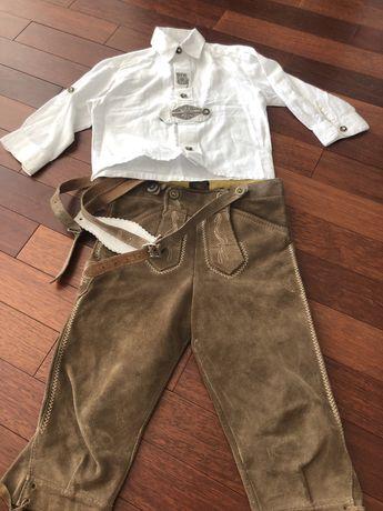Costum bavarez piele pentru copii 4-6 ani