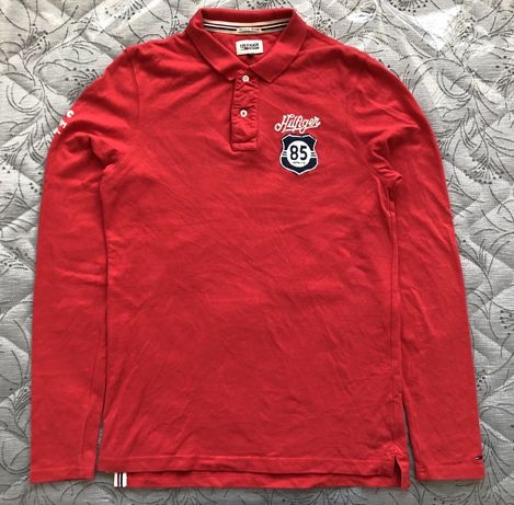 ОРИГИНАЛ Tommy Hilfiger Long Sleeve Polo Shirt мъжка поло блуза - р.М