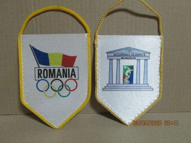 """Mini fanion """"Romania-Academia Olimpica Romana"""""""