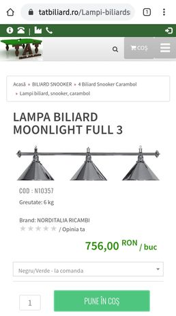Vand lampa biliard Moonlight Full 3