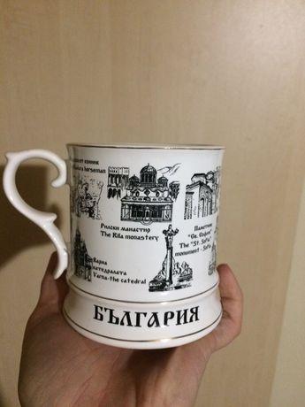 Сувенирна чаша и чиния