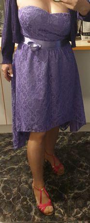 Дамска рокля лилав цвят М-Л размер