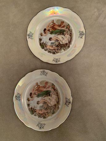 Тарелки десертные Мадонна, ГДР, 80 г.