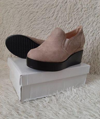 Новая обувь под замшу на платформе 37р