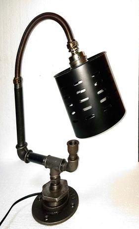 Lampa vintage, Veioza industriala, steampunk, antichizata, decorativa