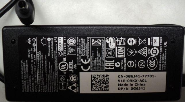 Incarcator-Alimentator Original Cu Pin Central Laptop DELL 19,5V, 3,34