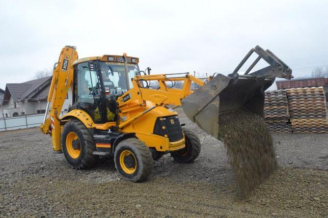 inchiriez buldoexcavator JCB 3CX, 4x4, 120 lei/oră