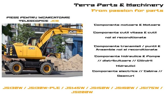 Piese excavatoare pe roti JCB JS130W / JS130W-PLE / JS145W / JS150W /
