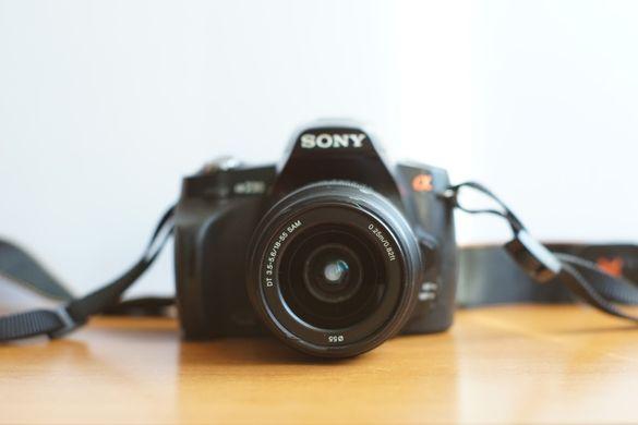Sony A230 DSLR + 18-55 mm китов обектив