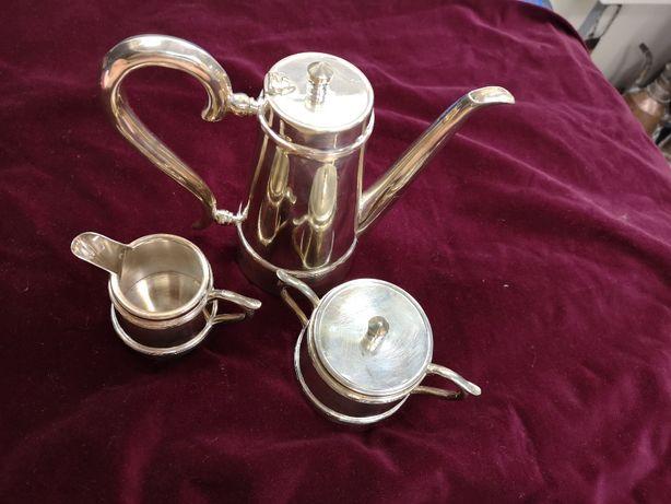 Set cafea argintat Empire