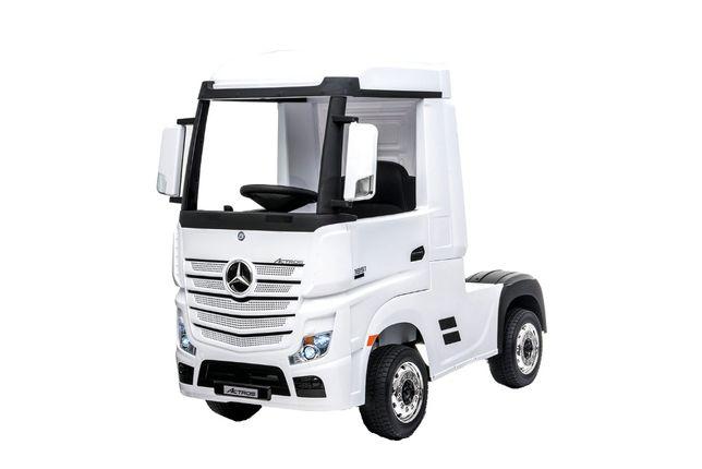 Camion electric pentru copii Mercedes ACTROS 4x4 STANDARD 4x45W #Alb