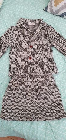 Пиджак с юбкой для девочки