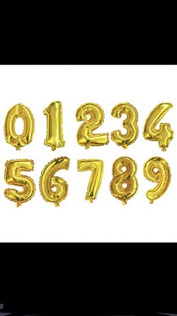 Baloane cifre 85 cm