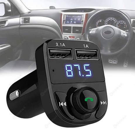 Блутут Трансмитер за кола , флашка Bluetooth FM Transmitter handsfree