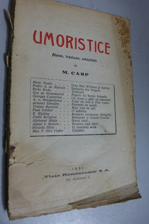 """UMORISTICE - Alese, traduse, adaptate: M. CARP - """"Viata Romaneasca """""""