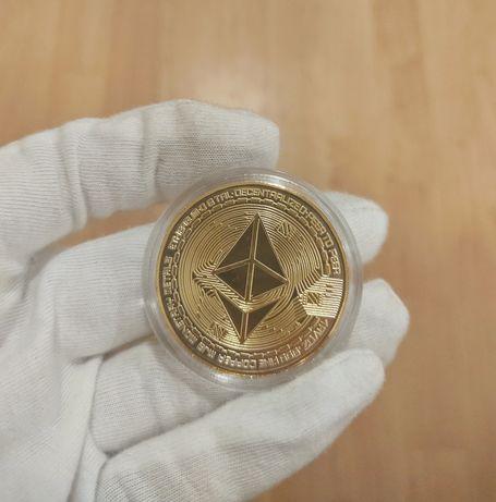 Vând monede ETHEREUM + capsulă Gold