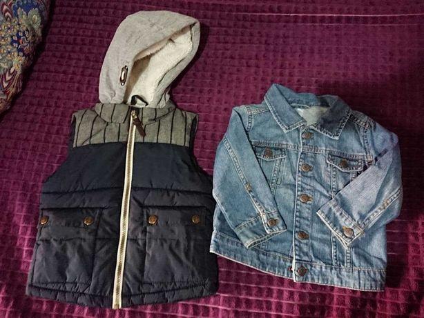 Жилетка фирмы Next и джинсовая куртка от H&M