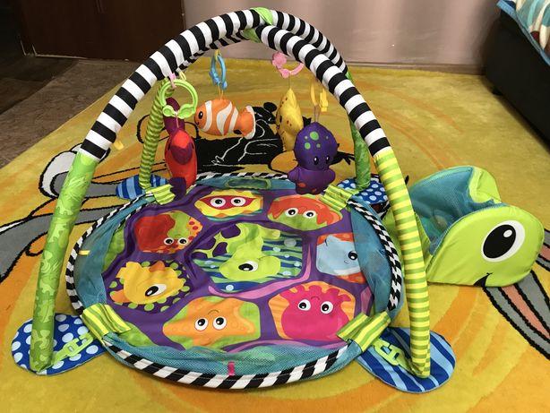 Детский развивающий коврик ЧЕРЕПАШКА 3в1