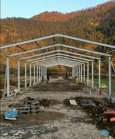 Vând structură metalică de 10 m cu 28 de m lungime preț de producător