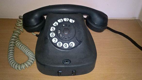 Стар бакелитов телефон с шайба
