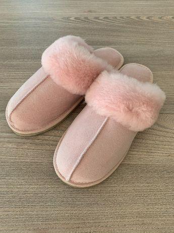 Домашни чехли от агнешка кожа