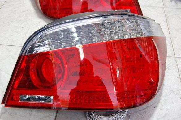 ПРОМОЦИЯ LED FACELIFT тайвански стопове BMW 5 е60 06+ седан с бял мига