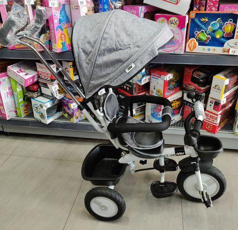 Tricicleta pentru Copii, cu Roti din Cauciuc, Rulmenti si Cadru Otel