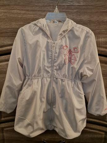 Бяло шлиферно яке за момиченца