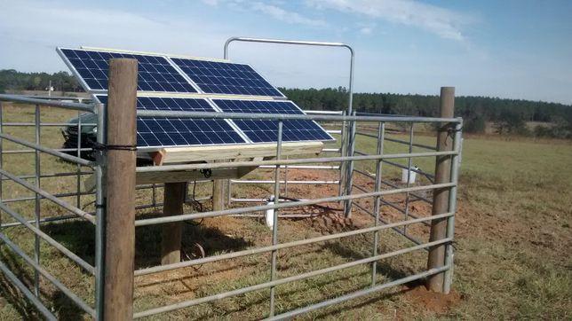 Насос погружной на солнечных батареях для колодцев и скважин.