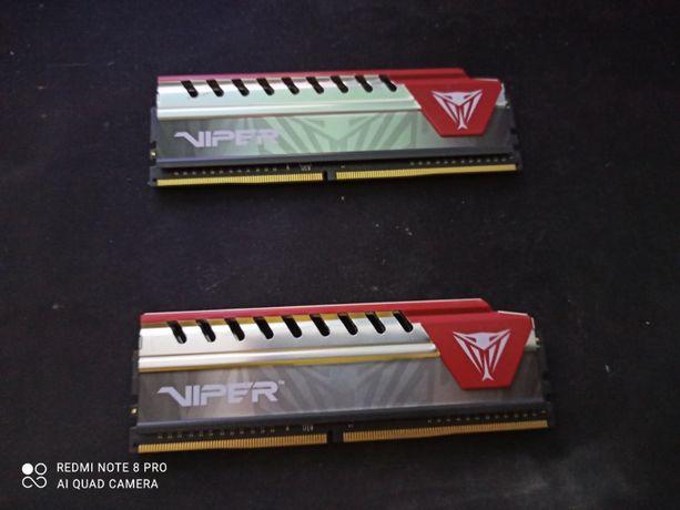 Vand memorii RAM Viper 2 X 4 GB 2400Mhz,Rosu,Utilizate