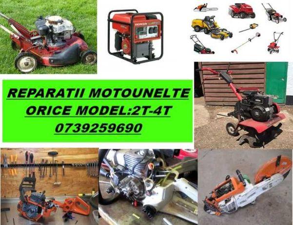 Reparatii Drujbe ,motocoase,masini tuns iarba,etc. 2T-4T, orice model