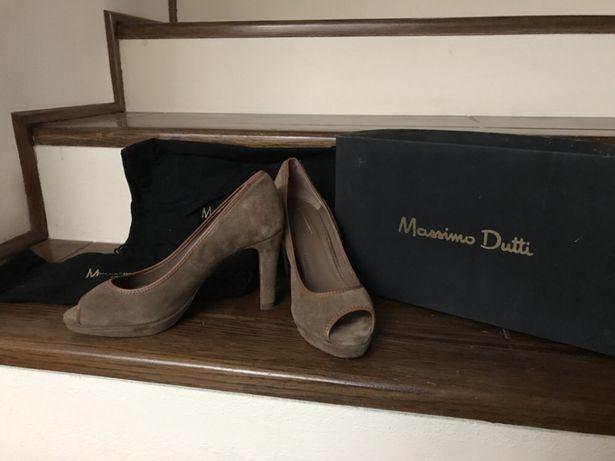 Pantofi cu toc Massimo Dutti, pantofi piele eleganti cu platforma