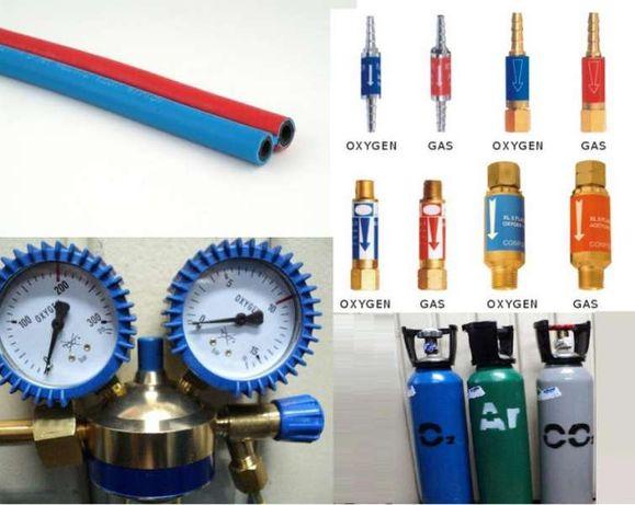 Дюзи за резаци и горелки,маркучи двойни и единични,предпазни клапани.