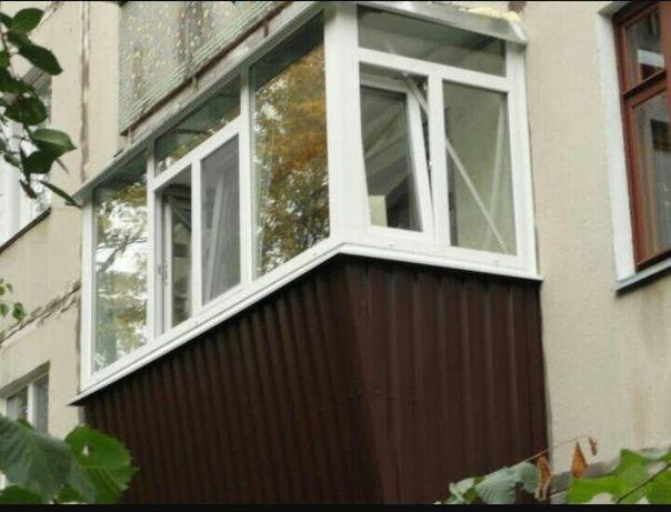 """Балкон""""под ключ"""". Выдвижение, остекление, наружняя и внутреняя отделка"""