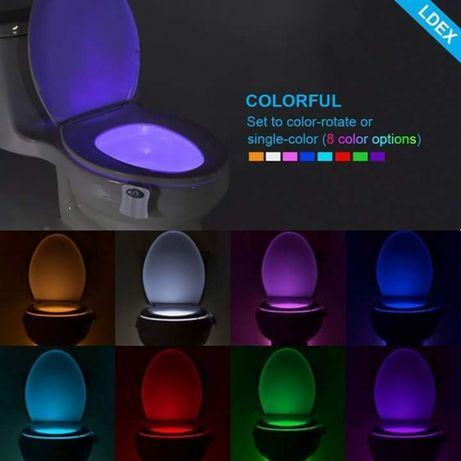 Lampă LED wc cu senzori de mișcare