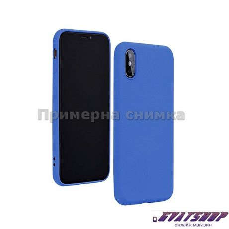 Кейс Forcell Silicone Lite за Huawei P40 Lite E, син