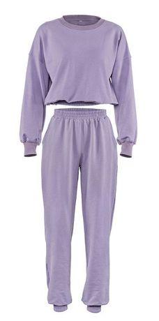 Трикотажный костюм фиолетовый джоггеры и свитшот