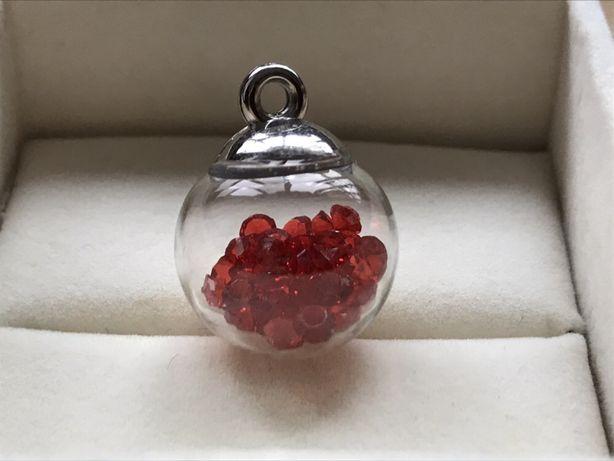 Pandantiv Globuleț cu Lavanda, Cristale sau mini floricica