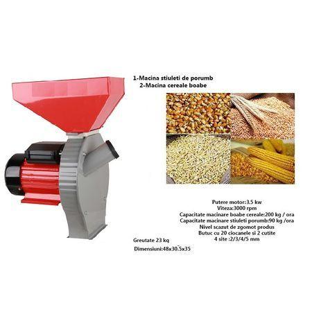 Moara cereale ( 2 in 1 ), 3.5KW, 250kg/ora, 100%Cupru, PANDORA,Macinat