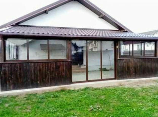 Rame aluminiu cu sticlă duplex pentru terase balcoane foisoare