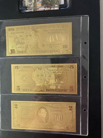 Позлатени  $  банкноти